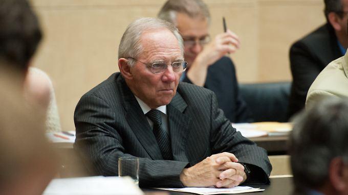 Wolfgang Schäuble hält von dem Aufruf der Truppe um Hans-Werner Sinn gar nichts.
