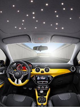 Optional ist auch eine LED-Sternenhimmel zu haben.