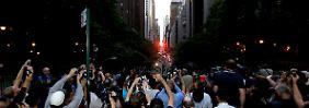 In der 42. Straße war das Phänomen zu sehen.