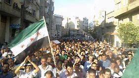 Anti-Assad-Proteste in Yabroud bei Damaskus.