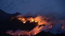 Wie hier auf La Palma sind auf mehreren Inseln die Brände schwer zu bändigen.