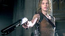 """In der Computerspiel-Adaption von """"Resident Evil"""" fürs Kino spielt Jovovich die Heldin Alice."""
