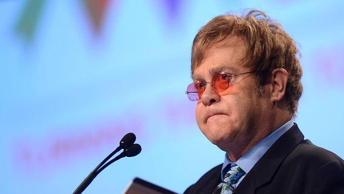 Elton John spricht auf der 19. Aids-Konferenz in Washington.