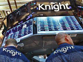 Händler von Knight Capital an der New Yorker Börse.