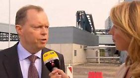 """RWE-Chef Terium weiht Braunkohle-Kraftwerk ein: """"Wir sind kein reiches Unternehmen"""""""