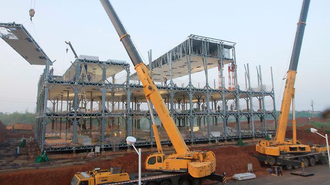 Chinas Bauboom ist zum Teil auf Sand gebaut.