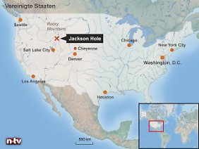 Weit entfernt von den großen Finanzzentren: Jackson Hole, der Tagungsort des alljährlichen Treffens der Notenbanker, liegt in einem Tal am Rande der Rocky Mountains im US-Bundesstaat Wyoming.