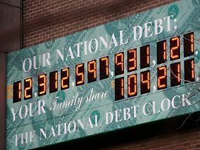 Die us-amerikanische Schuldenuhr.