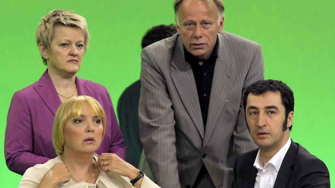 Fraktionschefs und Bundesvorsitzende der Grünen: Künast, Trittin, Roth und Özdemir.