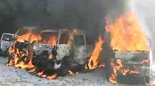 Nach einem Angriff der Assad-Luftwaffe in der Provinz Idlib.