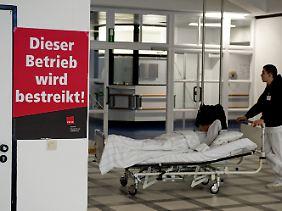 Krankenhäuser - hier in Berlin - liefen auf Notbetrieb.