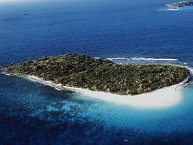 Sandy Island gehört zu den Britischen Jungferninseln.