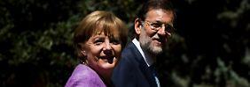Schulterschluss statt Streitpunkte: Merkel und Rajoy ganz einig
