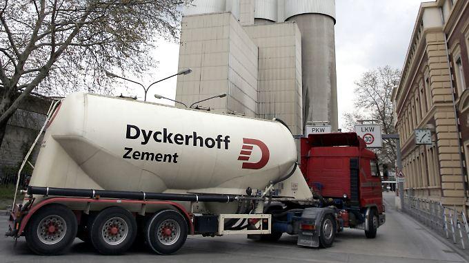 Zementgeschäft leidet unter Wirtschaftskrise.