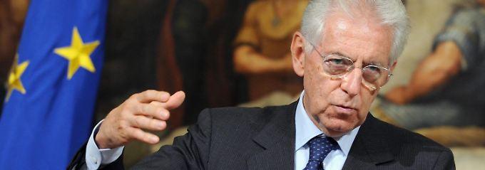 """""""Kein Drama"""": Regierungschef Monti deutet Hilfsbedarf an."""