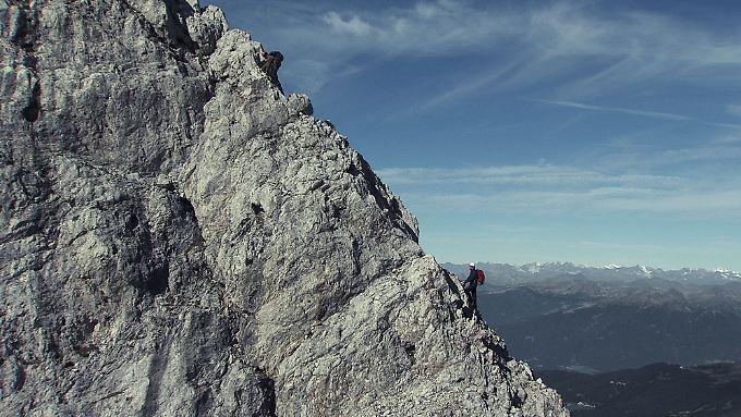 Florian und Martin Riegler als Reinhold und Günther Messner an der Peitlerkofel  Nordwand. (nachgestellt)