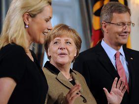 Bundeskanzlerin Angela Merkel war und ist Bettina Wulff sehr sympathisch.