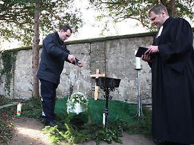 In Potsdam wird ein tot aufgefundener Säugling beigesetzt.