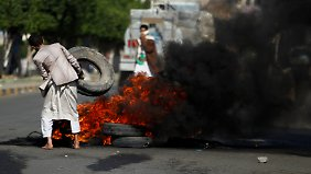 Protest in Sanaa.