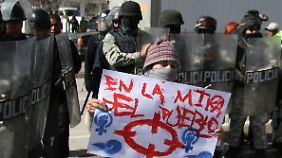 Angesichts der anhaltenden Gewalt nimmer der Protest in Ciudad Juárez zu.