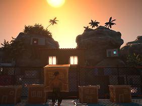 Mit Kisten ganze Häuser verschieben: In Caballeros Spiel ist das Surreale normal.