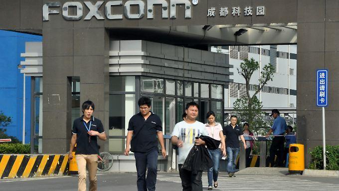 Foxconn beschäftigt in China 1,2 Millionen Menschen.