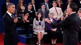 Punktsieg im TV-Duell: Obama zeigt sich offensiv