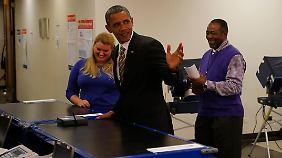 US-Wahl in elf Tagen wird eng: Obama gibt Stimme bereits ab