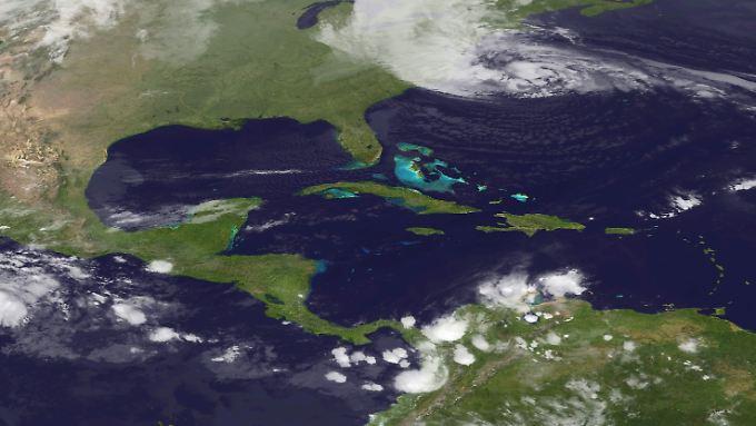 """""""Sandy"""" bewegt sich auf die US-Ostküste zu."""