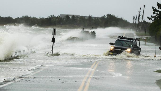 Eigentlich dürfte sich in den Hamptons niemand mehr bewegen. Die New York vorgelegerte Inselkette gilt als evakuiert.
