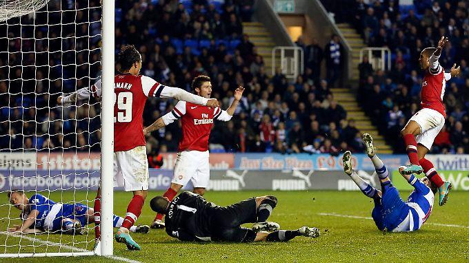 """Theo Walcott steuerte drei Tore zum sensationellen Comeback der """"Gunners"""" bei."""