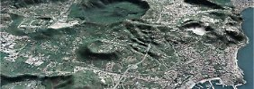 Neapel, umgeben von Kratern. Zwischen den Phlegräischen Feldern und dem Vesuv hat sich eine riesige Magmablase gebildet.