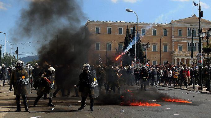 Griechenland im Jahr 2012: Auseinandersetzung am Rande einer der unzähligen Demonstrationen.