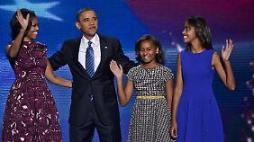 Sasha und Malia sollen bezaubern: Obamas Töchter Teil des Wahlkampfes