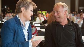 Na, wie wärs mit uns beiden? Jürgen Trittin und Renate Künast gelten als Favoriten bei der Spitzenkandidaten-Kür.