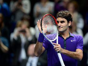 Zum Saisonfinale in Bestform: Roger Federer.