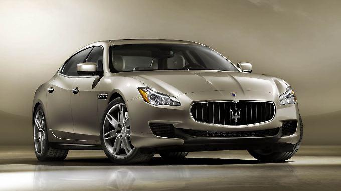 Stolze 5,30 Meter misst der neue Maserati Quattroporte, der seinen Siegeszug vor allem in China und den USA antreten soll.
