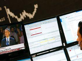 """Amerika hat gewählt"": Im Frankfurter Aktienhandel geht es abwärts."