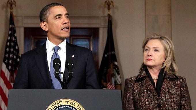Obama und Clinton entwickelten sich zu einem guten Team.