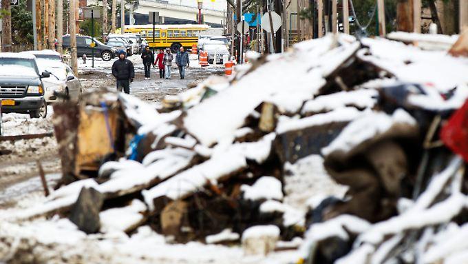 """Nach """"Sandy"""" nun Schnee und eisige Kälte: New York trifft es hart"""
