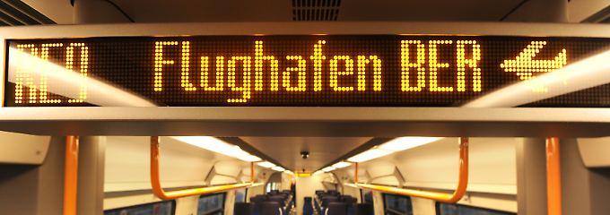 """Dauerbaustelle mit S-Bahn-Anschluss: Die Bahn will die Flughafenanbindung auch mit ICE und den neuen Regionalzügen vom Typ """"Talent 2"""" bedienen."""
