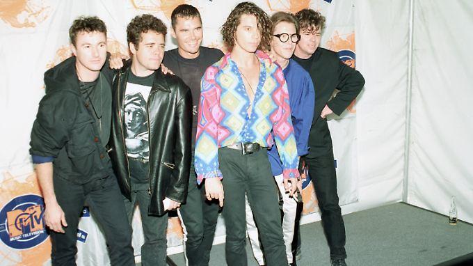 INXS zu ihren Hochzeiten im Jahr 1990, damals auch noch mit Sänger Michael Hutchence.