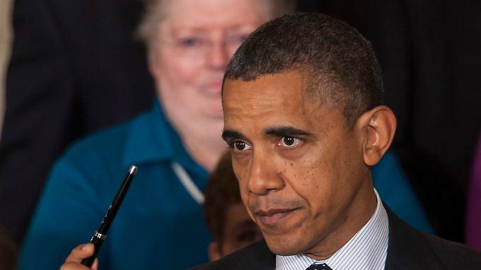 """Nach den Stürmen """"Sandy"""" und """"Athena"""" schaut Barack Obama nun auf das """"Fiscal Cliff""""."""