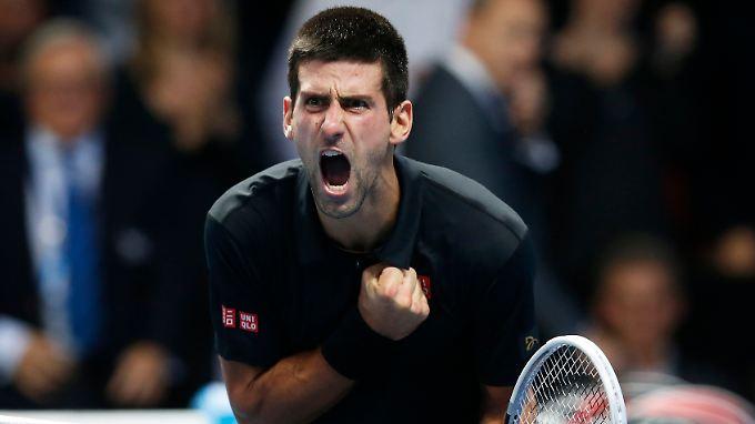 Es muss raus: Novak Djokovic beweist, dass er der beste Tennisspieler der Welt ist.