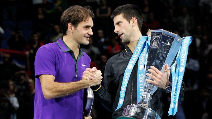 In zwei hochklassigen Sätzen war Novak Djokovic gegen Roger Federer der etwas bessere Tennisspieler.