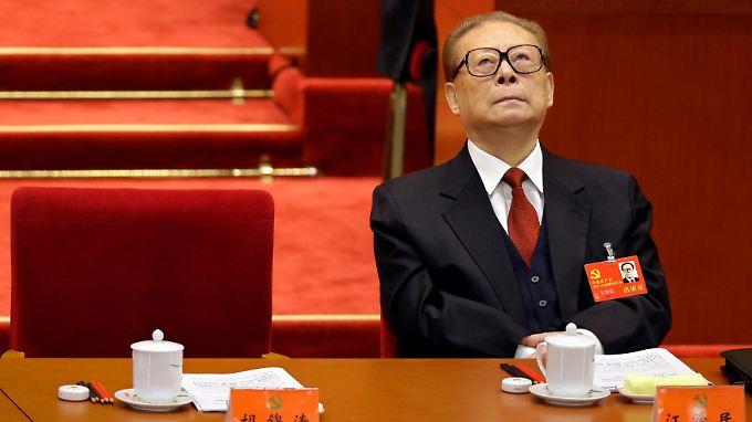 Graue Eminenz in der roten Führung: Jiang Zemin.