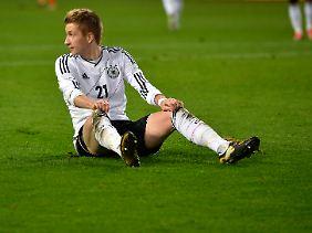 Kurz vor Schluss hatte Marco Reus noch einmal die Chance zum Siegtor. Der Ball versprang.