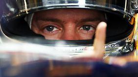 Typisch für Sebastian Vettel: der Zeigefinger.