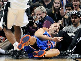 Kämpfen um jeden Punkt: Altstar Jason Kidd gegen die Spurs.
