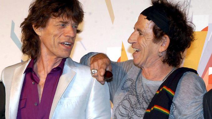 Trafen sich 1961 im englischen Dartford: Die Herren Mick Jagger und Keith Richards.
